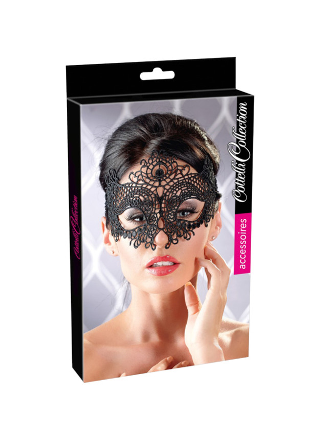 Cottelli Collection Embroidered Masquerade Mask
