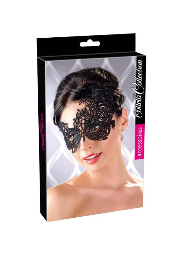 Cottelli Collection Asymmetric Embroidered Masquerade Mask