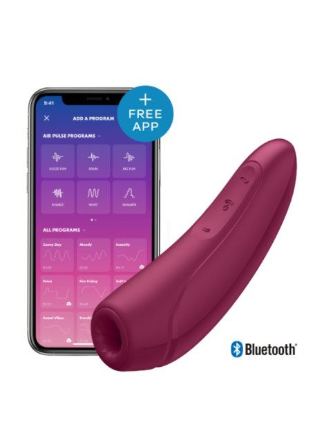 Satisfyer Curvy 1+ Red App-controlled Clitoral Stimulator