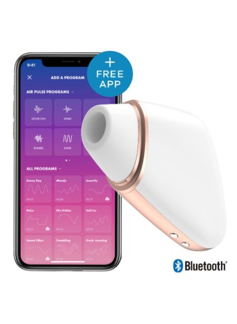 Satisfyer Love Triangle App-Controlled Air Pulse Clitoral Vibrator